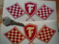 Firestone Crossed Flag & Shield Sticker. 5