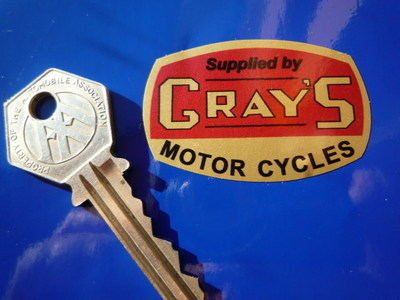 "Gray's Motorcycle Dealers Sticker. 2""."