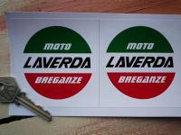 Laverda Moto Breganze Circular Logo Stickers. 3