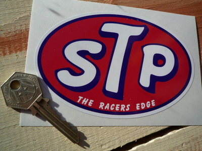STP The Racers Edge Oval Sticker. 5