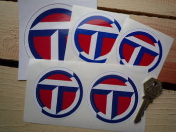 "Talbot Circular Logo Stickers. 2.5"", 2.75"", 3"" or 4"" Pair."