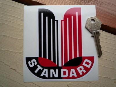 "Standard Cars Shaped Sticker. 4""."