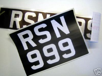 Stick On Car Number Plates for Classic Cars 57mm
