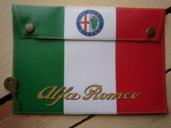 "Alfa Romeo Document Holder/Toolbag. 10"" or A4."