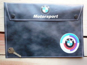 BMW Motorsport Grey Document Holder/Toolbag. A4.