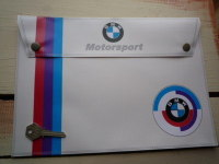 BMW Motorsport White Document Holder/Toolbag. A4.