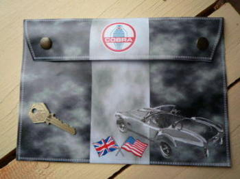 "AC Shelby Cobra Document  Holder/Toolbag. 10"" or A4."