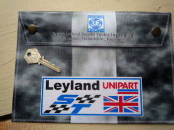 "British Leyland ST Grey Unipart Document Holder/Toolbag. 10""."