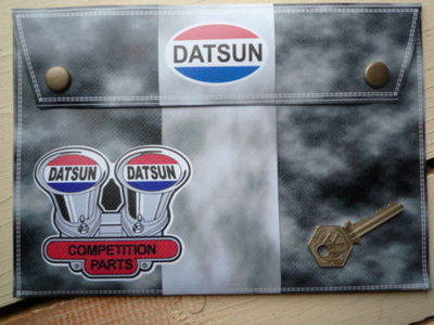 Datsun Competition Parts Document Holder/Toolbag. 10""
