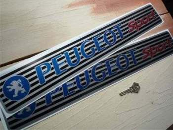 "Peugeot Sport Kickplate Sill Protector Stickers. 20"" Pair."