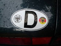 D Deutschland Germany ADAC & Roundel ID Plate Sticker. 3.5