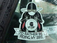 I'd Rather Be Riding My Bike Sticker. 3