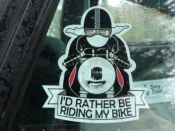 "I'd Rather Be Riding My Bike Sticker. 3""."
