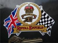 Royal Enfield Flag & Scroll Sticker. 4