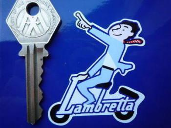 "Lambretta Pointing Man Stickers Pair 2.75"""