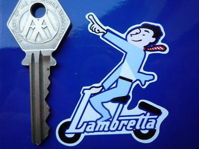 Lambretta Pointing Man Stickers Pair 2.75