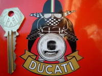 Ducati Cafe Racer Pudding Basin Helmet Sticker. 3