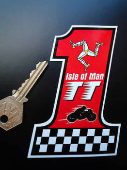 "Isle Of Man TT Races No.1 Sticker. 4""."