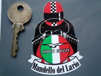"Moto Guzzi Full Face Helmet Cafe Racer Sticker. 3""."
