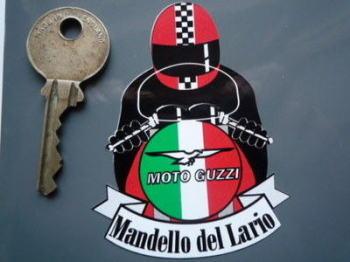 """Moto Guzzi Full Face Helmet Cafe Racer Sticker. 3""""."""