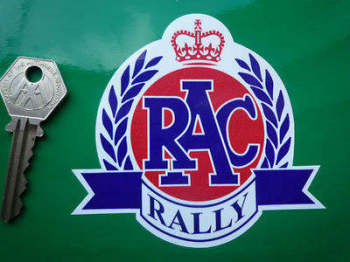 "RAC Rally Garland Sticker. 4""."