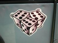 "Tumblin' Dice Stickers. 2"" or 4"" Pair."