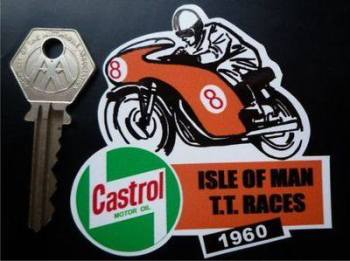 "Isle Of Man TT Races 1960 Sticker. 3""."