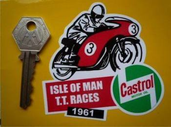 "Isle Of Man TT Races 1961 Sticker. 3""."