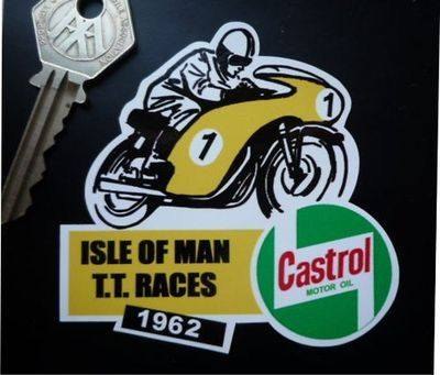 "Isle Of Man TT Races 1962 Sticker. 3""."