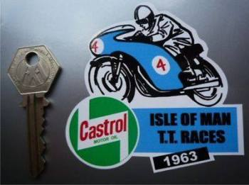 "Isle Of Man TT Races 1963 Sticker. 3""."