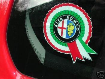 "Alfa Romeo Rosette Sticker. 4""."