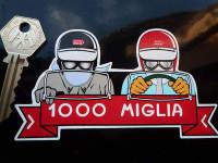 Mille Miglia 1000 Driver & Passenger Sticker. 5