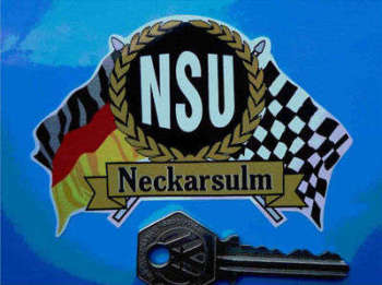 "NSU Flag & Scroll Sticker. 4""."