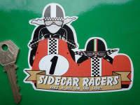 "Sidecar Racers Like A Bit On The Side! Sticker. 4""."