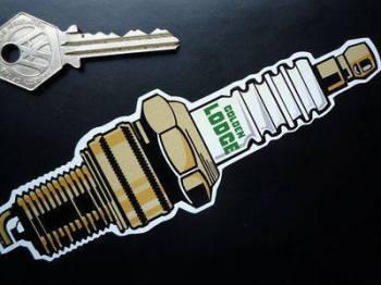 "Golden Lodge Spark Plug Sticker. 6""."