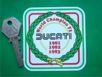 Ducati World Champion F2 '81 '82 '83 Sticker. 3