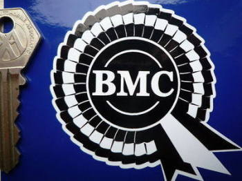 "BMC Black & White Rosette Stickers. 3"" or 4"" Pair."