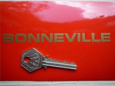 """Bonneville Cut Vinyl Text Stickers. 4.75"""" or 6"""" Pair."""
