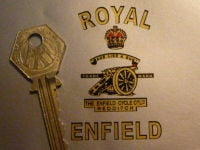 Royal Enfield Gun Toolbox Style Sticker. 2.25