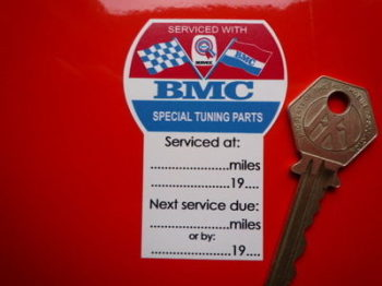 "BMC Special Tuning Barrel Service Sticker. 2.75""."