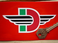 "Ducati 'Winged D' Stickers. 3"" or 5"" Pair."