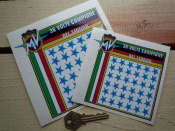 "MV Agusta 36 World Champions Sticker. 4"" or 5""."