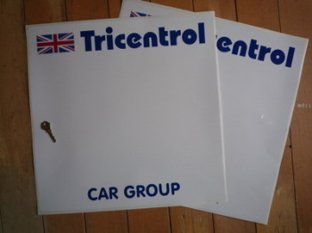 "Tricentrol Car Group Rally Door Panel Stickers. 19.5"" pair."