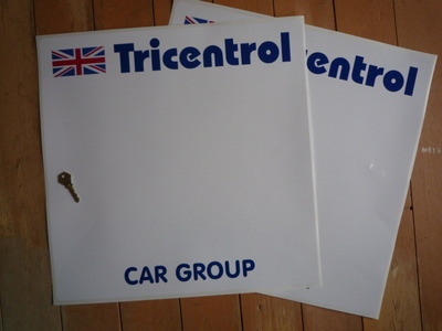 """Tricentrol Car Group Rally Door Panel Stickers. 19.5"""" pair."""