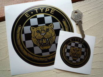 "Jaguar E-Type Growler Stickers. 2.5"" or 5"" Pair."
