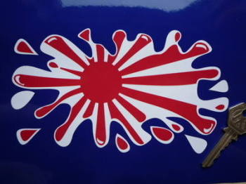 "Japanese Navy Flag Splat Style Sticker. 7""."