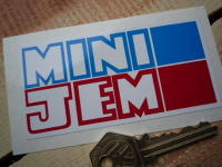 "Mini Jem Oblong Sticker. 4""."