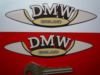 "DMW England Shaped Sticker. 4.5""."