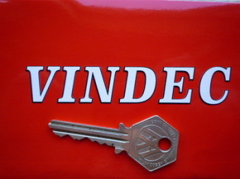 "Vindec Bicycle Black & White Cut Text Sticker. 4""."