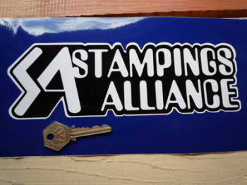 "Stampings Alliance Black & White Shaped Stickers. 9"" Pair."